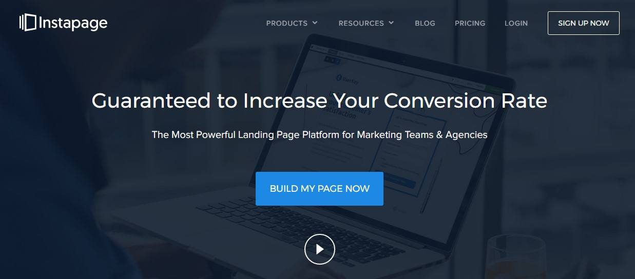 Criar landing pages Instapage