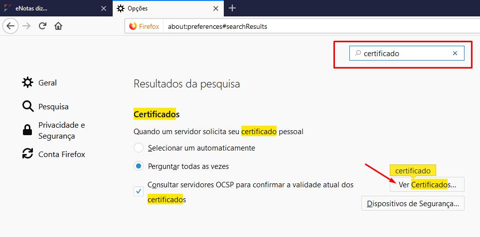 baixar certificado digital