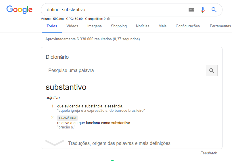 como buscar no google - define