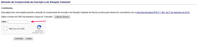 consultar CNPJ-site-receita-federal