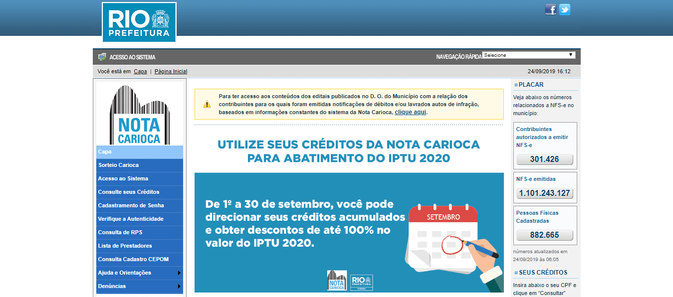 CPF na nota - nota carioca