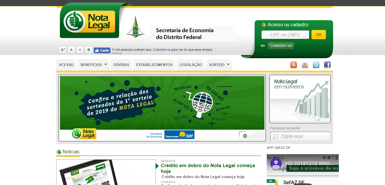 CPF na nota - nota legal - DF