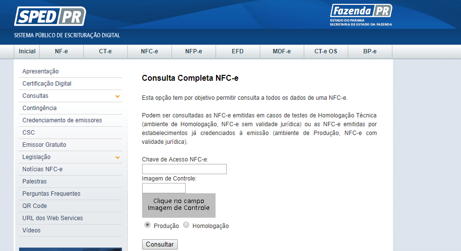 Consulta-NFC-e-Paraná