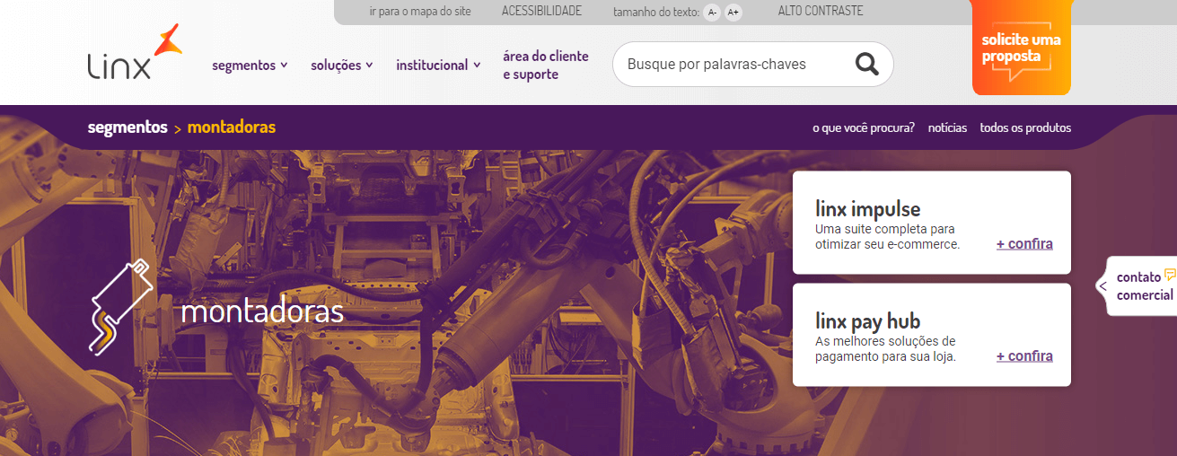 ERP Industrial - linx