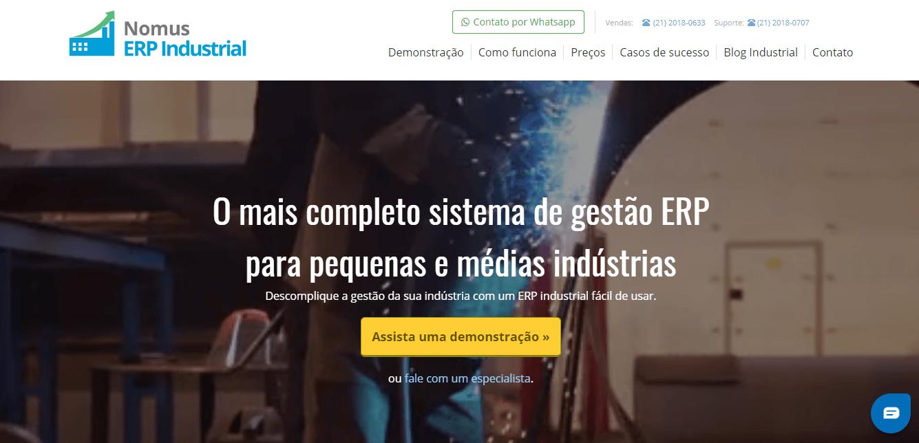 ERP Industrial - nomus