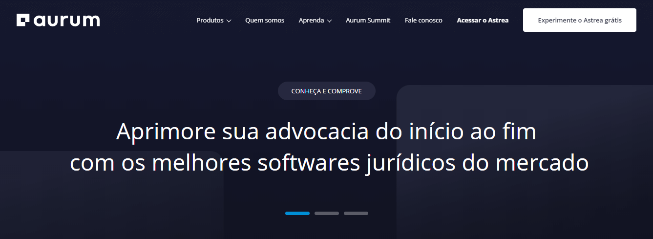 software jurídico - aurum