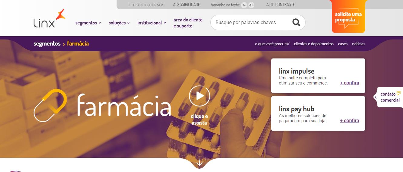 software para farmácia - linx