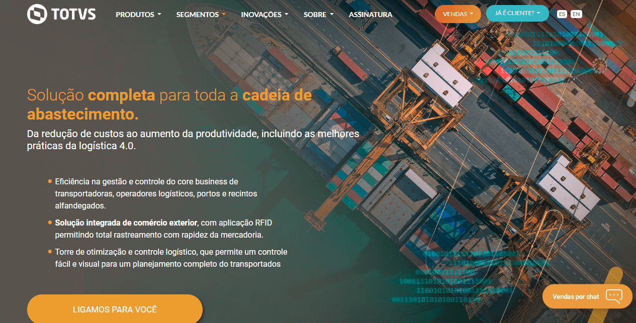 ERP para logística - Totvs