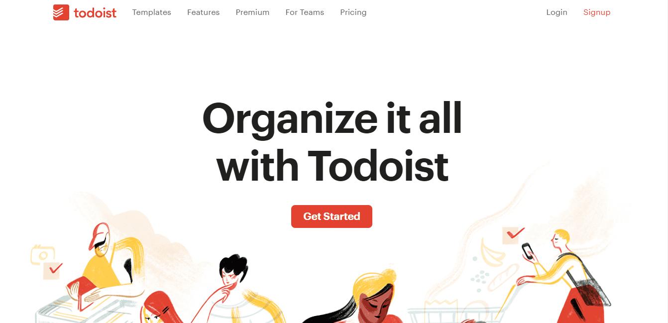 ferramentas gestão de projetos - Todoist