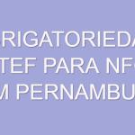 obrigatoriedade tef pernambuco-nfce