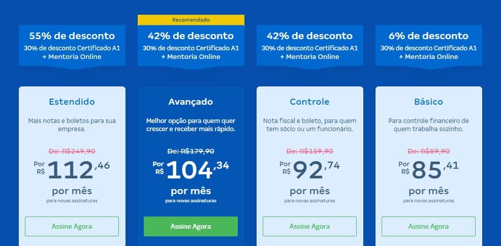 ERP para construção civil - Conta Azul - preços