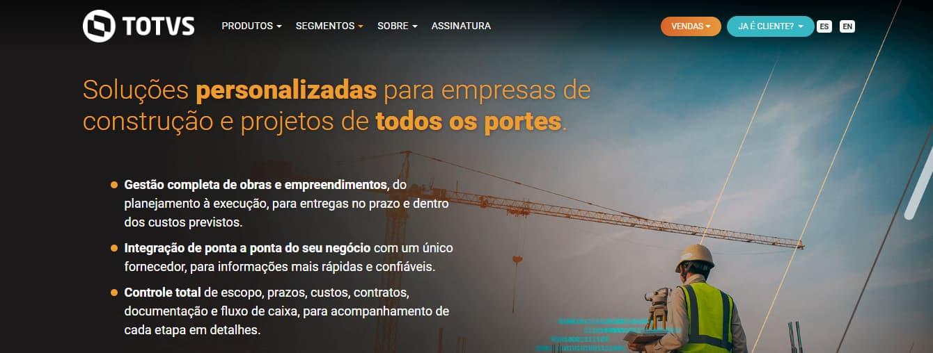 ERP para construção civil - TOTVS