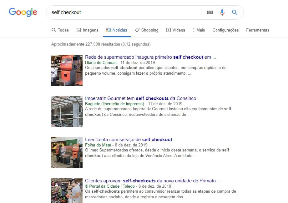 notícias self checkout