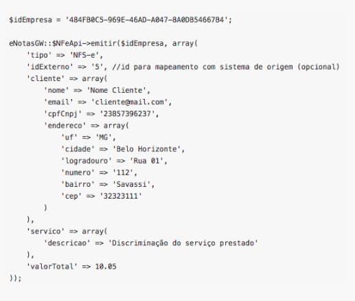 nfse php script