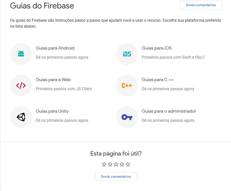 Guia Firebase