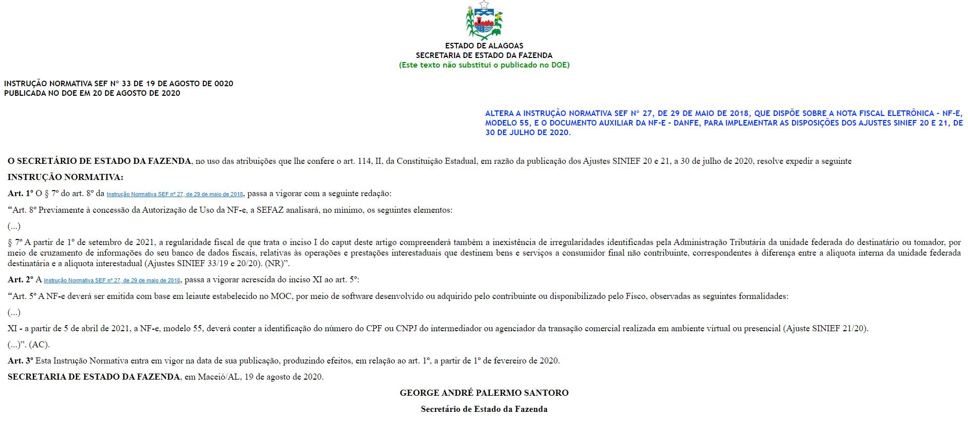 Instrução normativa 33