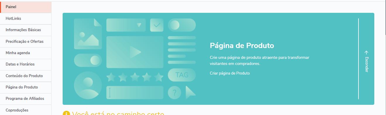 hotmart serviço online - pagina de produto