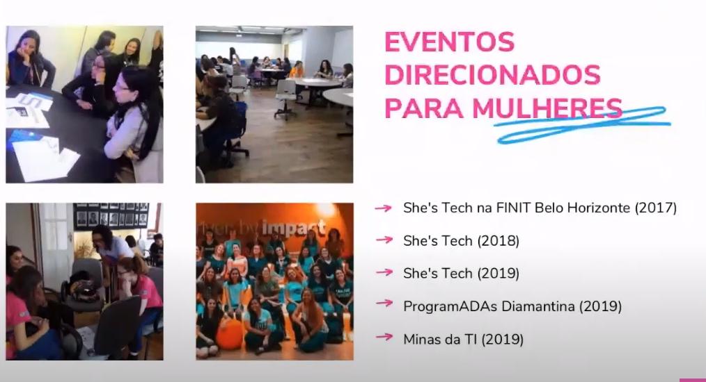 eventos direcionados para mulheres