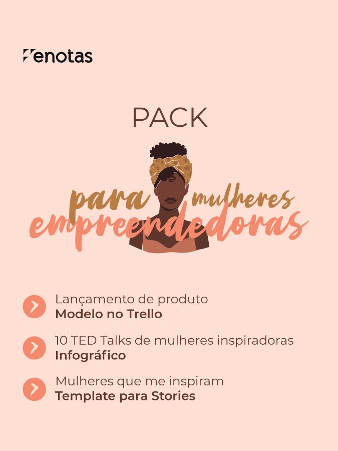 Pack para mulheres empreendedoras
