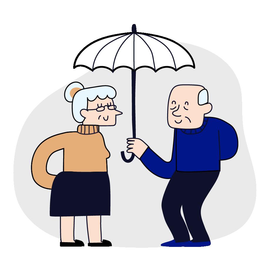 ilustração segurança de vida