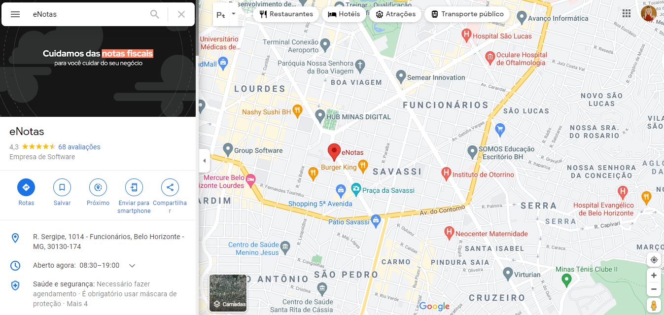 maps google meu negócio