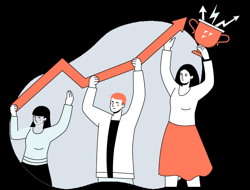 icone dos emprendedores crescendo